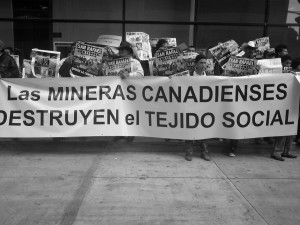 """Canadian Mining Destroys the Social Fabric!""  Credit: Mining Justice Alliance"
