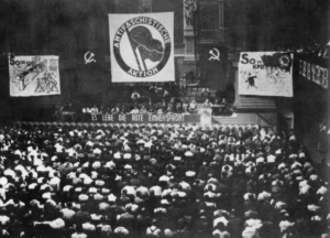 Antifaschistische Aktion Conference in Germany 1932 Credit: Wikimedia