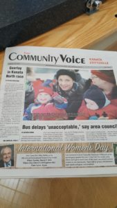 First Edition of The Kanata Stittsville Community Voice  Credit: Patrick Uguccioni